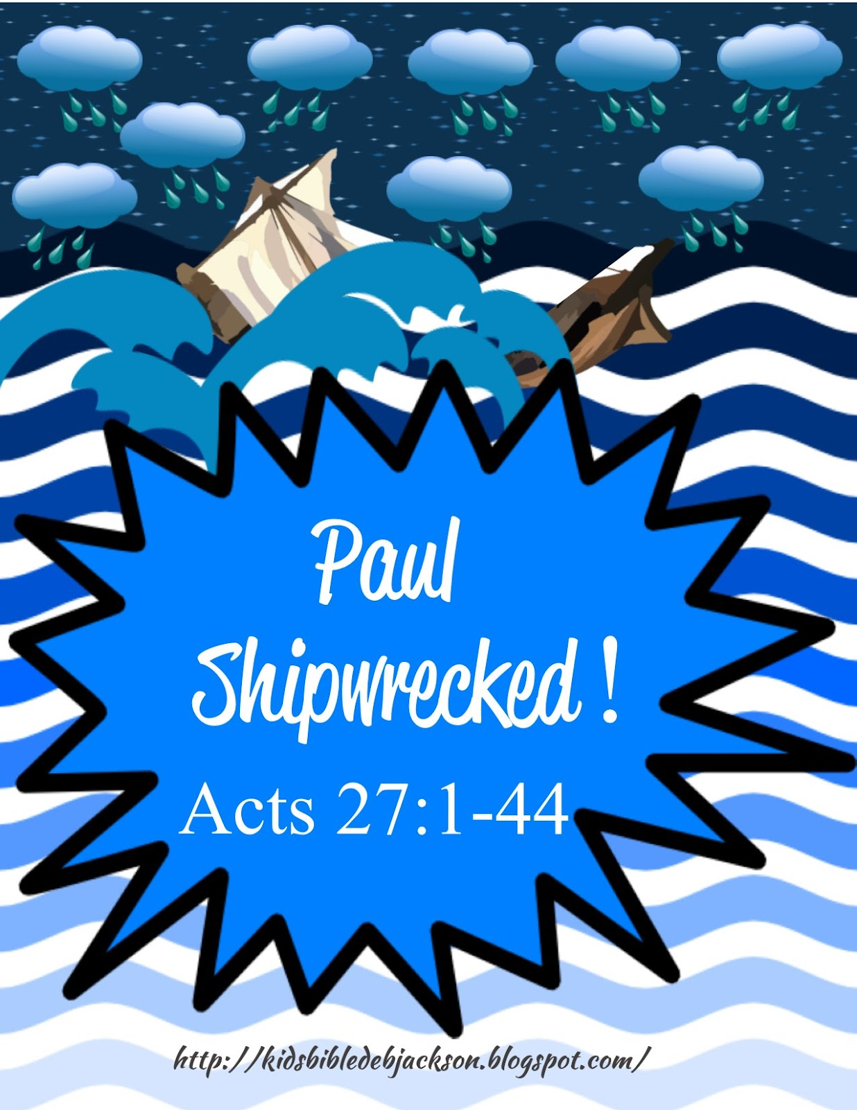 Bible Fun For Kids Paul Is Shipwrecked On The Way To Rome