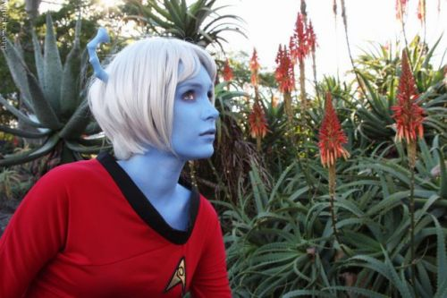 Blue Star Trek Red Shirt cosplay