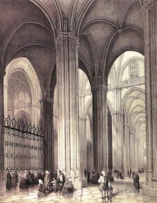 Fotos y postales antiguas de sevilla grabados - Catedral de sevilla interior ...