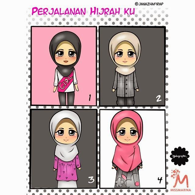animasi hijabographic muslimah hijab