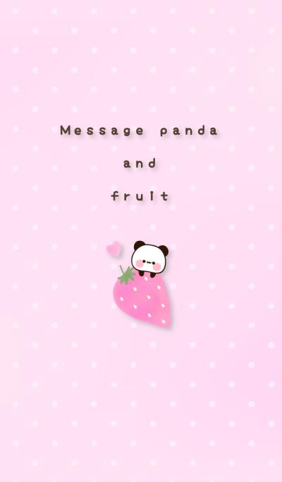 Message panda and fruit