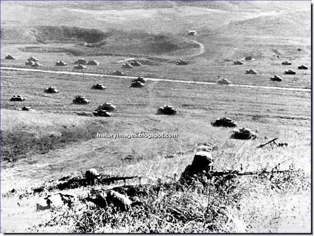 German tanks  foothills  Caucasus  Mozdok