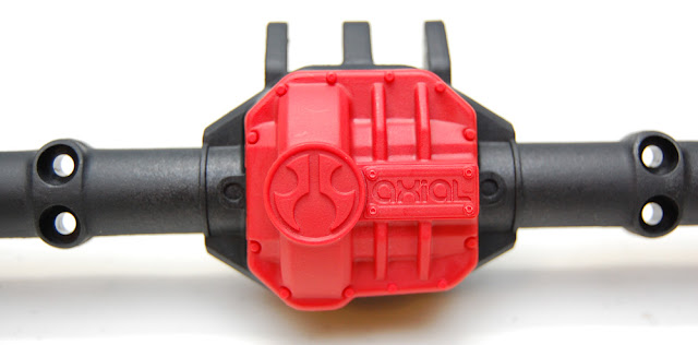 Axial SCX10 II Differential Cover Red