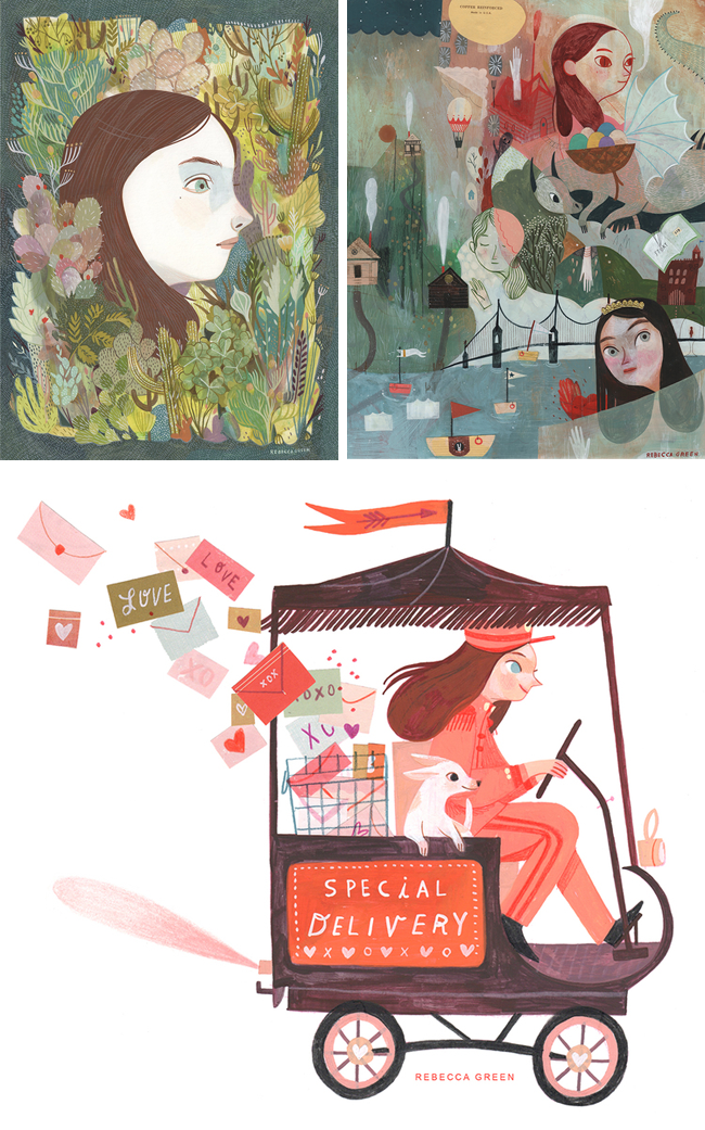 Artist Rebecca Green | Shared on CreativelyCurated.com #artist #illustration #RebeccaGreen