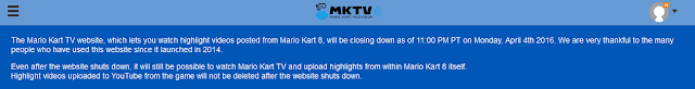 Mario Kart TV closing website 8 videos