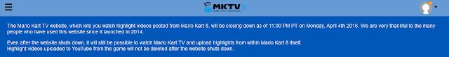 Mario Kart TV closing website 8 videos