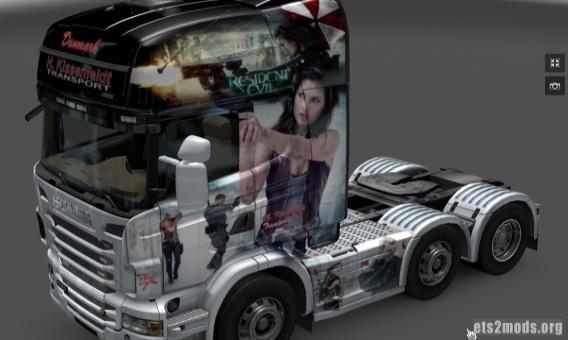 Scania Resident Evil skin