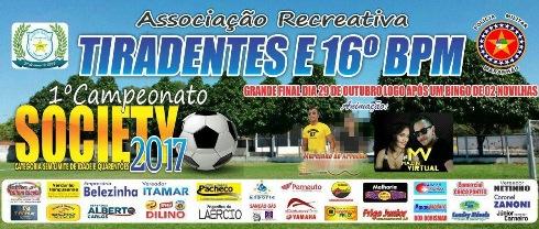 Associação Recreativa Tiradentes (ART) Realiza Final do 'Campeonato Society', na Manhã Deste Domingo (29)