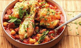 Ισπανικό κοτόπουλο με ρεβίθια
