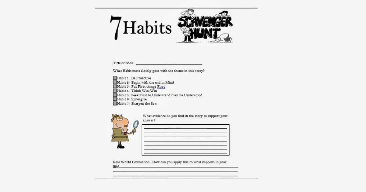 Mrs. Crabtree's Counseling Corner: 7 Habits Scavenger