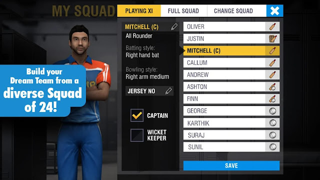 Customization Cricket Game
