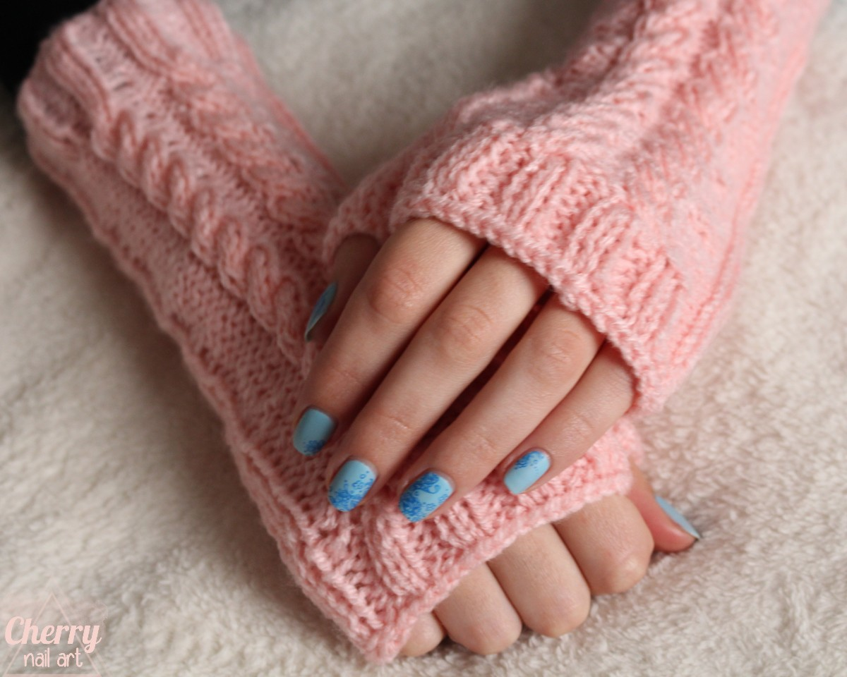 mitaines-tricot-torsades-rose-pastel