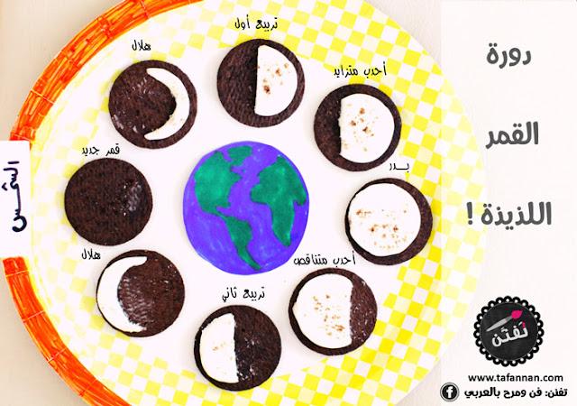 دورة القمر اللذيذة نشاط علمي للأطفال
