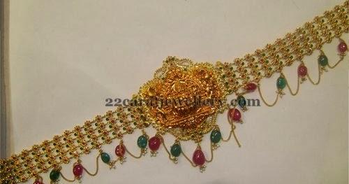 Fancy Stylish Chain Patterned Vaddanam Jewellery Designs