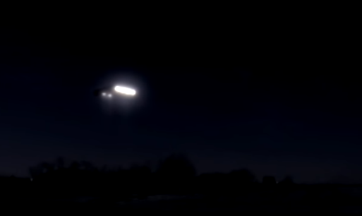 Police confirm that a UFO was actually seen and reported because they saw it aswell.