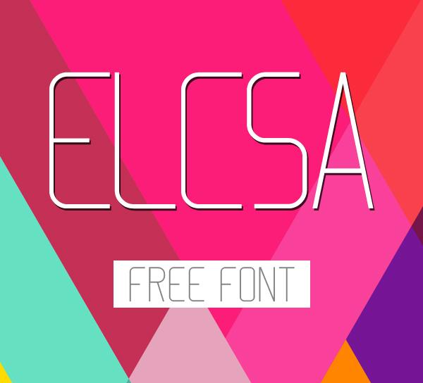 Font Terbaru Untuk Desain Grafis - Elcsa Free Font