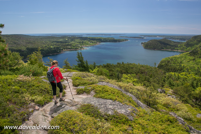 great hiking in in Acadia National Park, Mount Desert Island, Maine