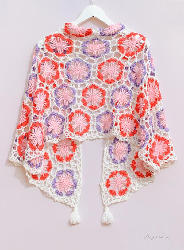 Crochet Shawls Crochet Shawl Wrap Pattern Hexagonal Motifs Shawl