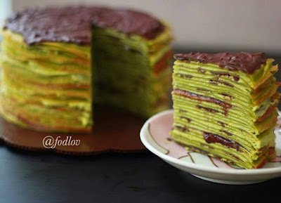 Resep Matcha Mille Crepes