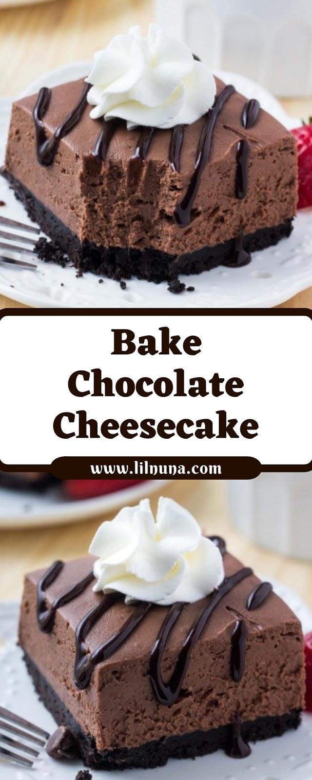 Bake Chocolate Cheesecake
