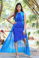 Tamil Actress Sanchita Shetty Latest Pos in Blue Dress at Yenda Thalaiyila Yenna Vekkala Audio Launch  0028.jpg