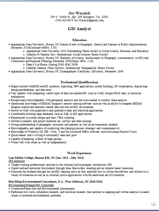 Environmental Analyst Sample Resume] Professional Environmental