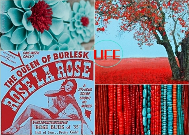 coral red and turquoise visual inspiration