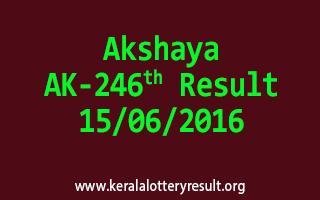 Akshaya Lottery AK 246 Results 15-6-2016