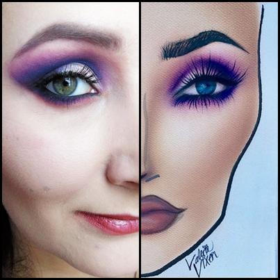 Wieczorowy makijaż - zabawa z Face Chartem