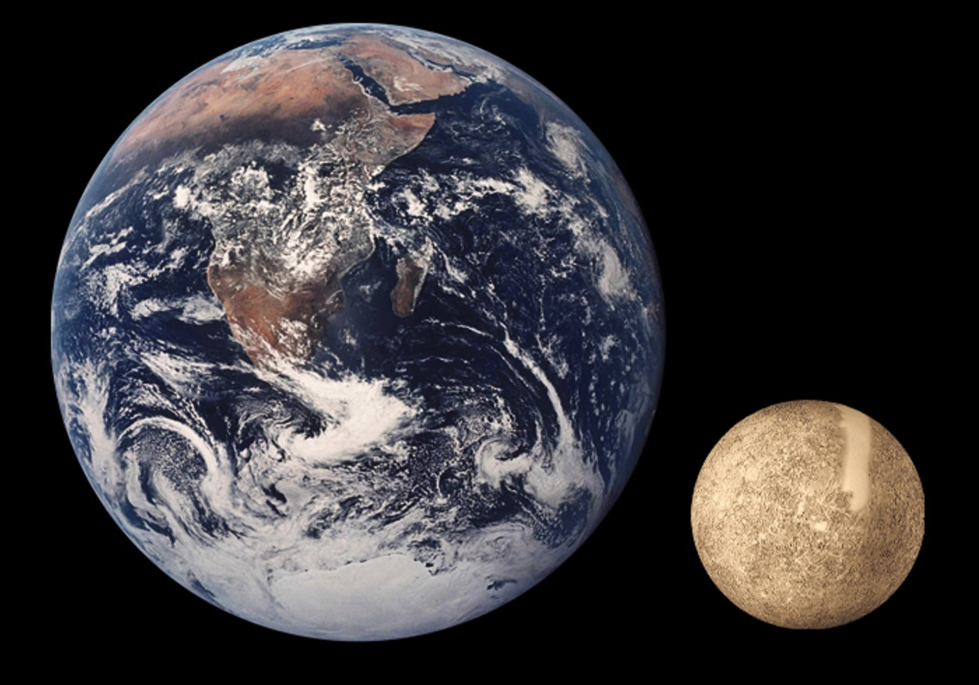 mercury compared to earth