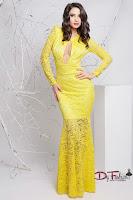 rochie-lunga-de-ocazie-Yellow Sun