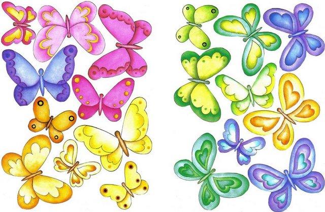 Dibujos De Mariposas Infantiles A Color: Imprimir Imagenes De Mariposas