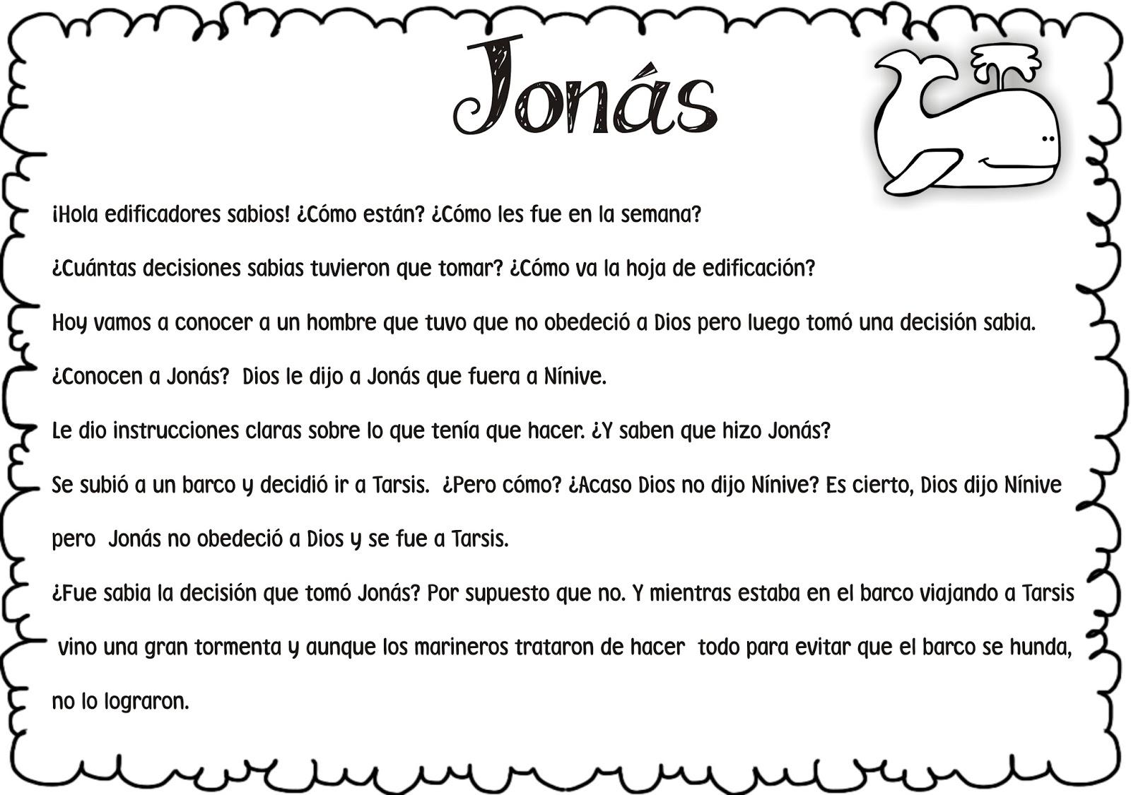 Dorable Dibujos De La Biblia Para Colorear Jonah Adorno - Dibujos ...