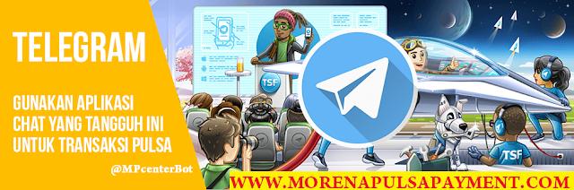 Cara Transaksi Morena Pulsa Via Telegram