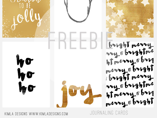 Free Christmas  Journaling Cards kimla designs