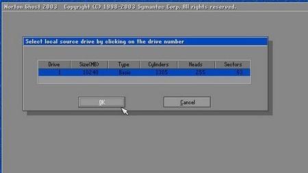 6. Pada Source HDD, pilih HDD yang terinstal OS yang ingin di kloning (Ingat! Jangan sampai salah).