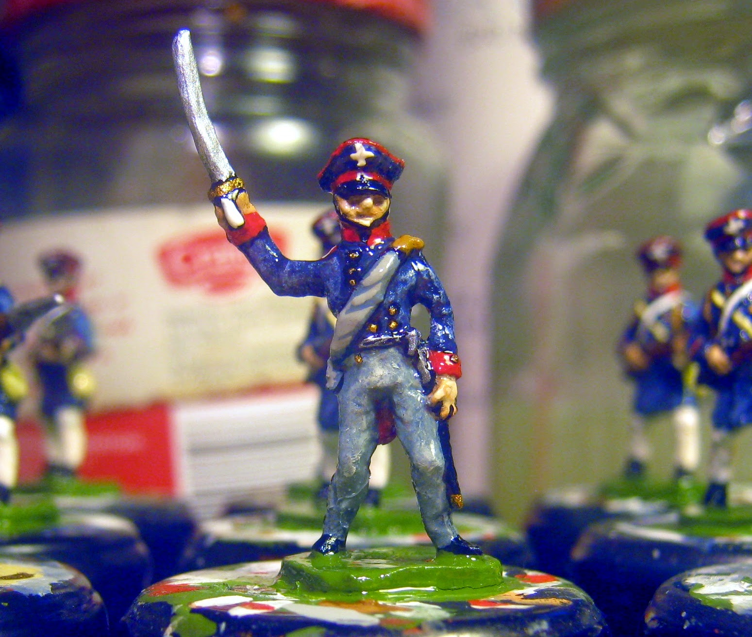 Hinton Hunt  PN 17: Prussian Landwehr Officer, Charging.