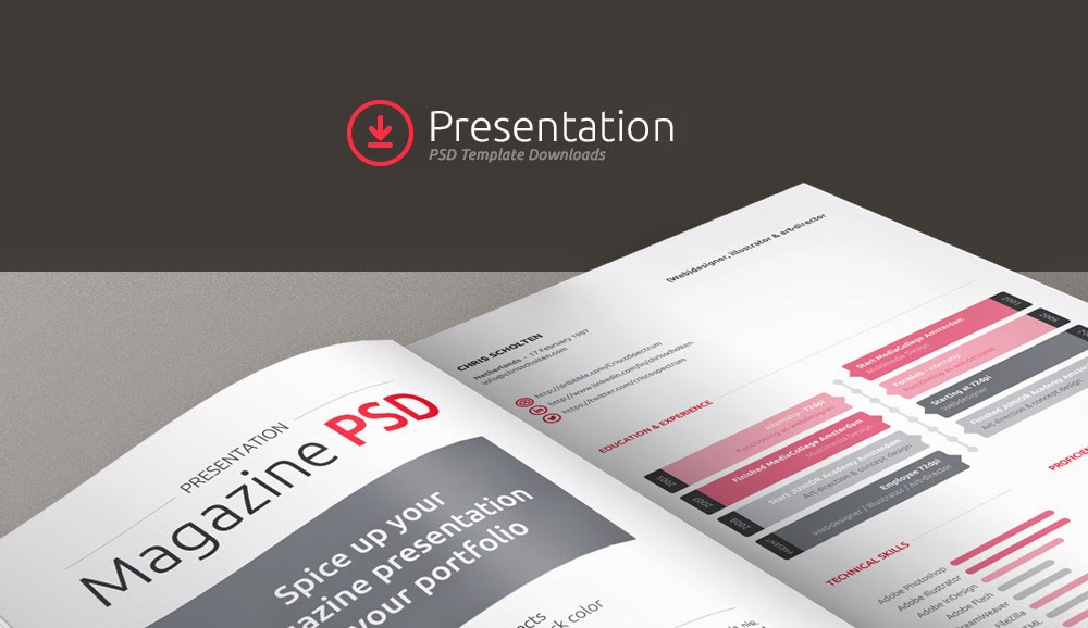 Magazine Presentation Mockup