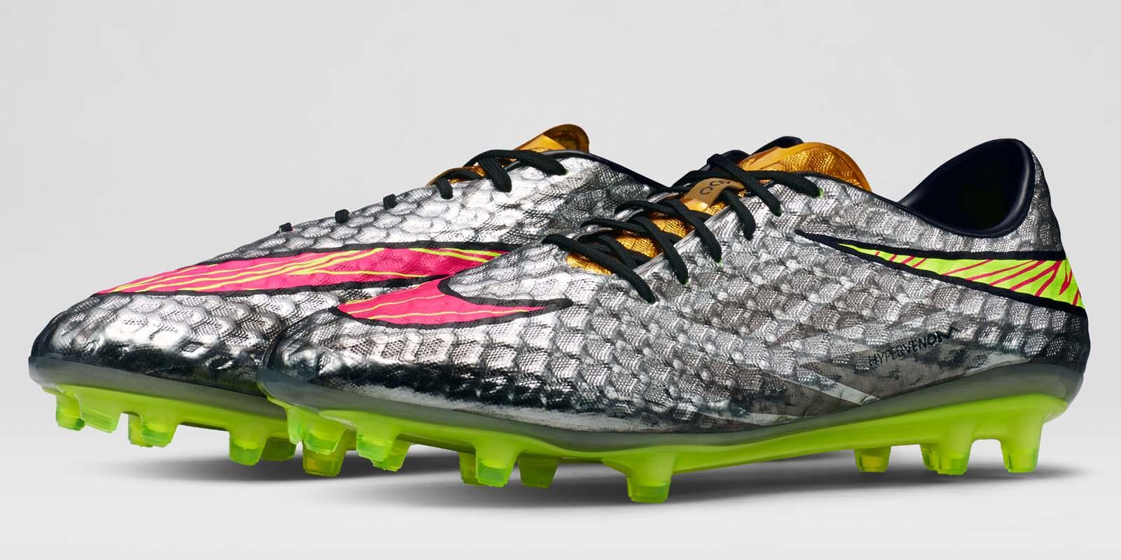 silver neymar nike hypervenom boots released liquid
