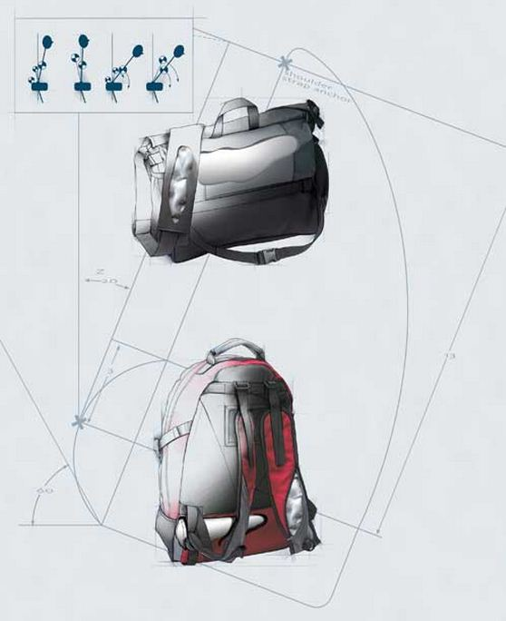 Ergonomic Backpack AirPacks, reduces stress of back muscles caused by excess weight