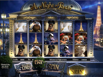 play a night in paris 3D slot from Betsoft