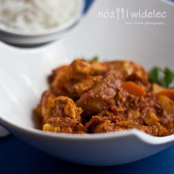 kurczak, gulasz, kuchnia indyjska