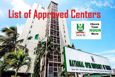 List of Approved NOUN Study Centers