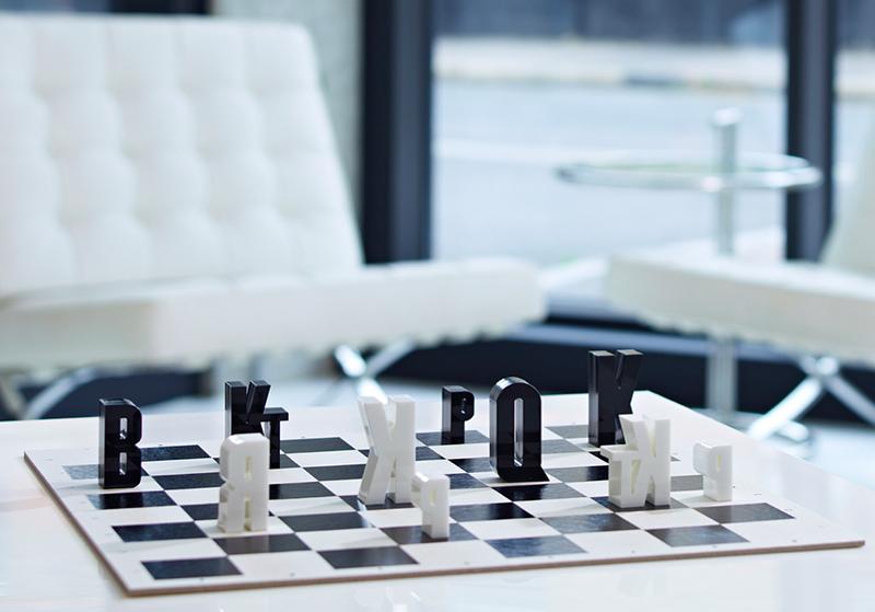 Typographic Chess Set