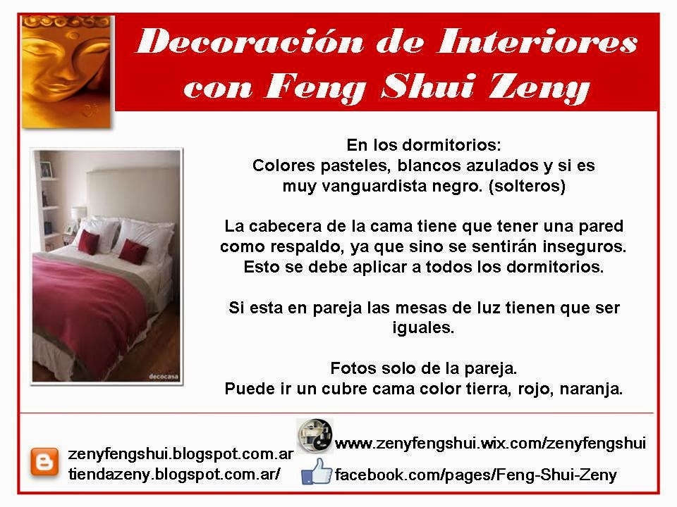 Feng shui dormitorios for Tecnica del feng shui