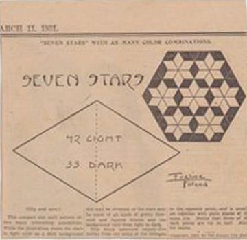 Civil War Quilts Seven Stars Seven Sisters 2