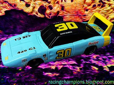 Dave Marcis #30 Dodge Daytona Racing Champions 1/64 NASCAR diecast blog 1969 1970 Superbird
