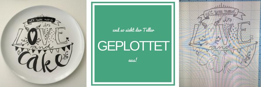 Handlettering-Motiv als Plotter-Projekt und Geschenk-Idee