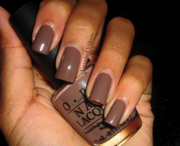 Varnished Valkyrie Opi Over The Taupe