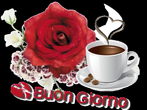 Frasi d 39 amore immagine di buongiorno di amore rosa e caff for Buongiorno o buon giorno immagini